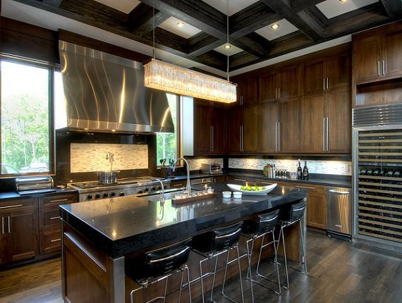 Chocolate Brown Cabinets  Contemporary  kitchen  Taylor Hannah