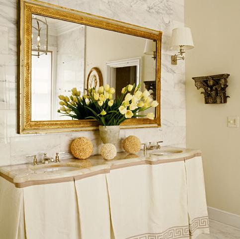 Bathroom Mirror Gold gilt bathroom mirror design ideas