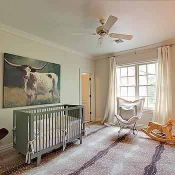 Green Crib, Country, nursery, Cote de Texas