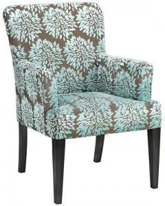 Homepop English Navy Arm Dining Chair