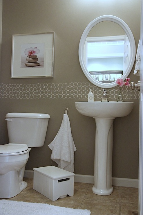 Taupe Paint Contemporary Bathroom Valspar Magic Spell House