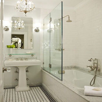 Subway Tile Shower, Transitional, bathroom, Morris Adjmi Architects