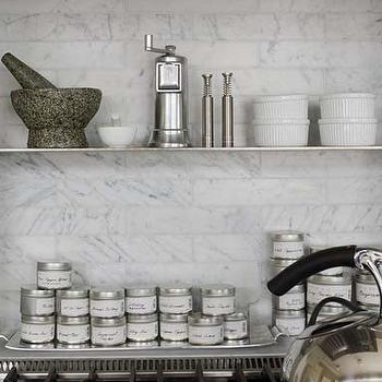 Marble Subway Tile Backsplash, Transitional, kitchen, Bosworth Hoedemaker