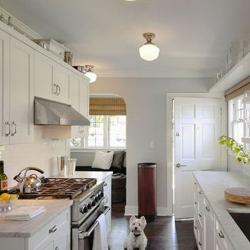 White And Grey Galley Kitchen gray galley kitchen - contemporary - kitchen - elizabeth garrett