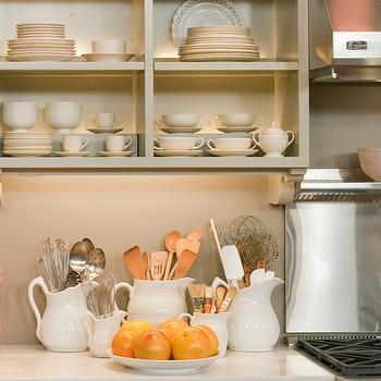 Martha Stewart Kitchen, Cottage, kitchen, Martha Stewart Mourning Dove Gray, Martha Stewart