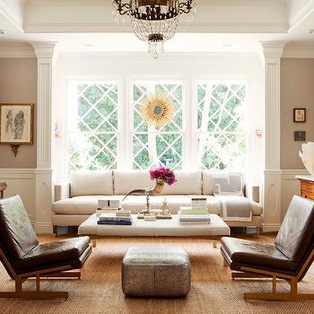 White Sofa, Transitional, living room, Windsor Smith Home
