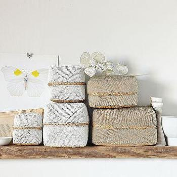 Beaded Boxes, west elm