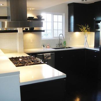 Modern Black KItchen, Modern, kitchen, Jill Seidner Interior Design