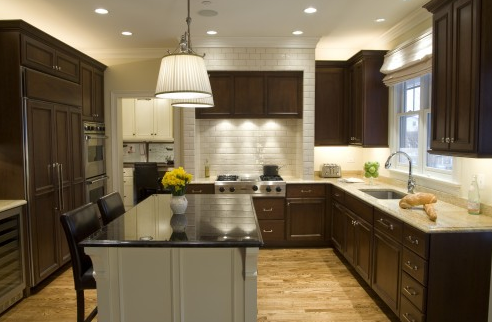 Chocolate Brown Cabinets Transitional Kitchen Kitchen Studio