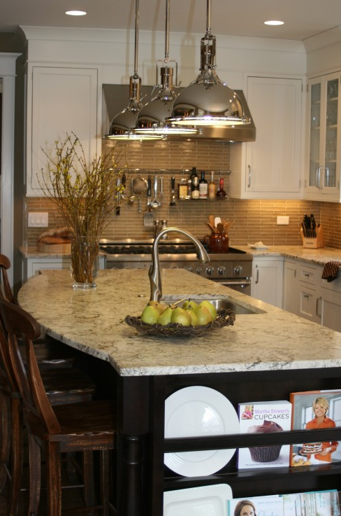 Curved Kitchen Island Transitional Kitchen Kitchen