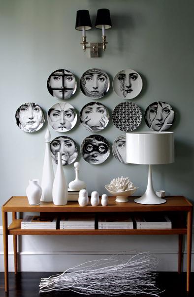 fornasetti plates contemporary entrance foyer graham. Black Bedroom Furniture Sets. Home Design Ideas