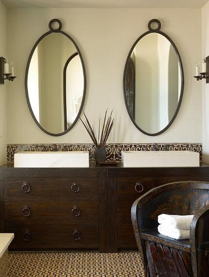 mirrors useful fantastic bathroom for in oval and decors