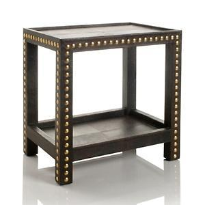 Admirable Nate Berkus Leather Studded Table At Hsn Com Gmtry Best Dining Table And Chair Ideas Images Gmtryco