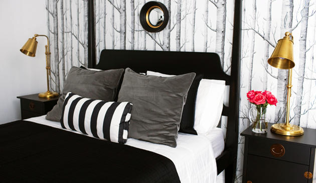 Black and gray bedroom eclectic bedroom bryn - Black white and gray bedroom ideas ...