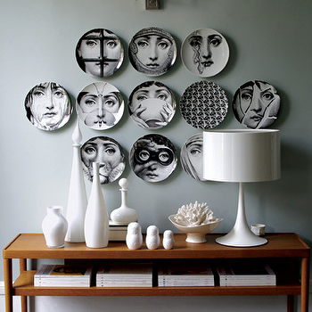 Fornasetti Plates, Contemporary, entrance/foyer, Graham Moss