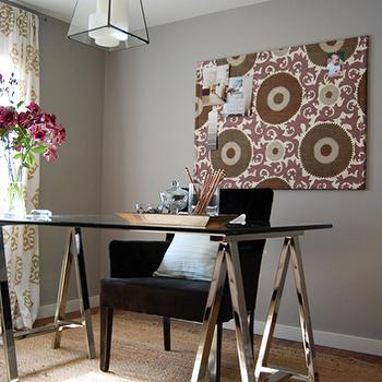 Sawhorse Desk, Contemporary, den/library/office, Bryn Alexandra Interiors