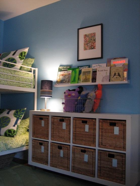 Boy Nursery Storage Shelves