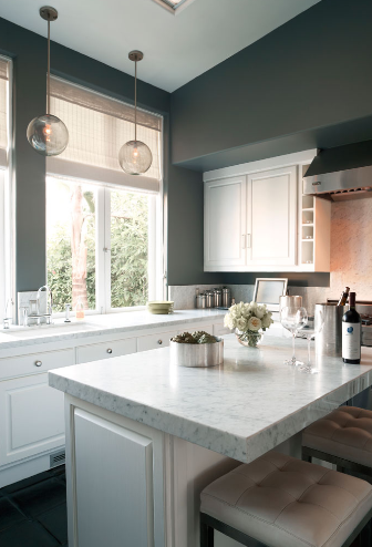 White kitchen cabinets gray walls design ideas Kitchen designs with grey walls