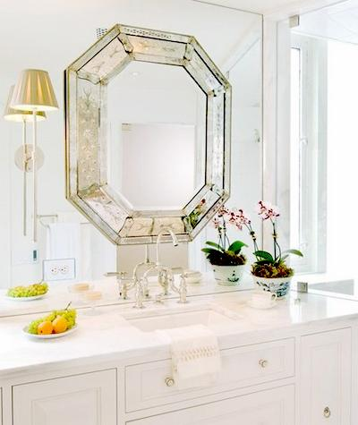 octagon bathroom mirror octagon mirror transitional bathroom huntley amp company 13837