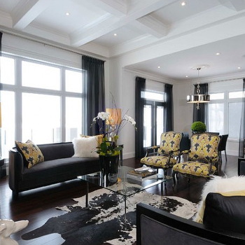 Yellow And Black Living Room