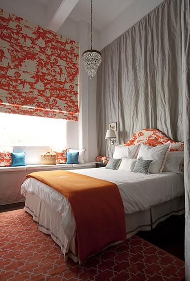 Orange Trellis Rug Contemporary Bedroom Diane