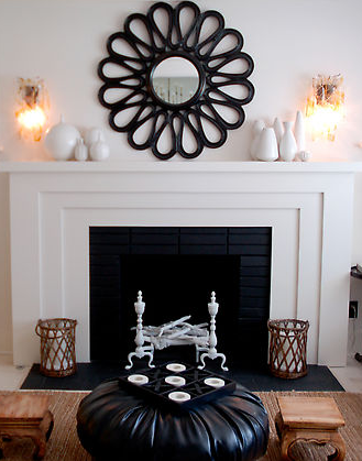 Fireplace Mirror Contemporary Living Room House Of Honey