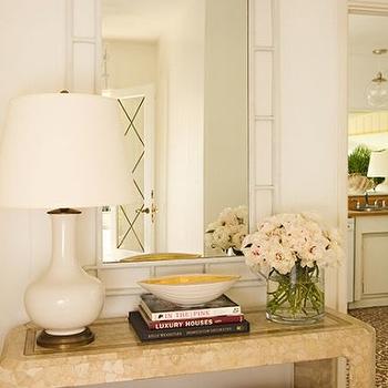 Pagoda Mirror, Cottage, entrance/foyer, Kristen Hutchins Design