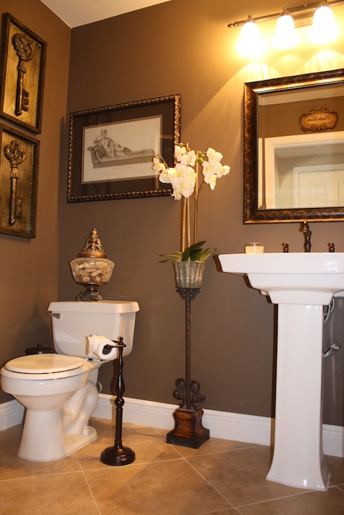 Bathroom - Bathroom color schemes brown and teal ...