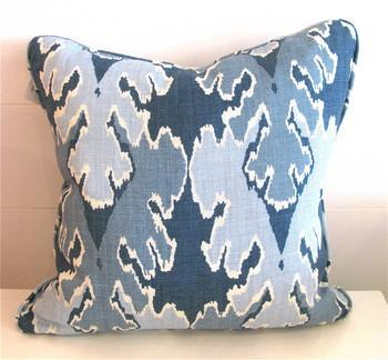 Blue Flame Stitch Pillow, Pieces