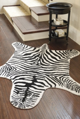 Zebra Rug Look 4 Less And Steals And Deals