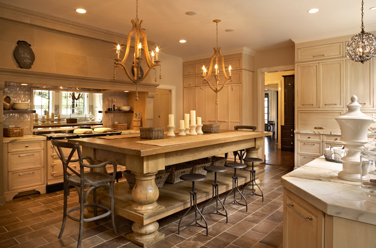 Photo on traditional oak kitchen islands