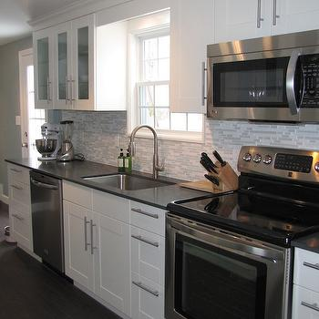 Ikea Adel Cabinets, Contemporary, kitchen, Benjamin Moore Kentucky Haze