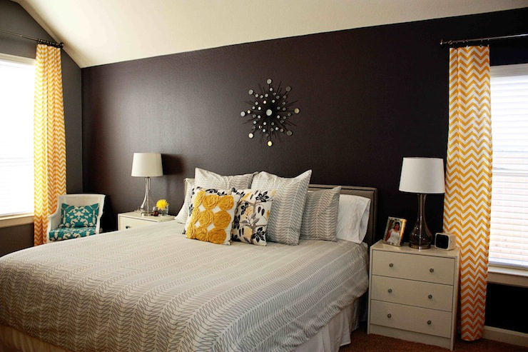 Bedroom Behr Anonymous And Benjamin Moore Almost Black Mixerd In Behr
