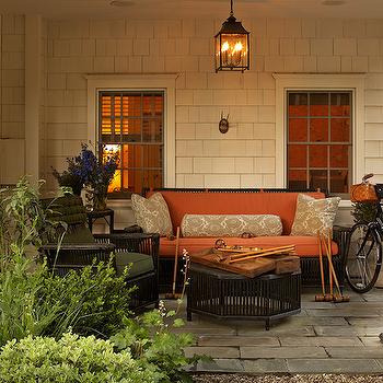 Black Wicker Furniture, Cottage, deck/patio, Jean Randazzo