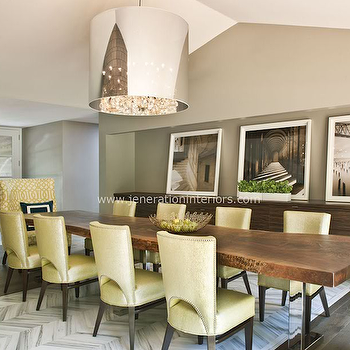 Yellow Dining Chairs, Contemporary, dining room, Jeneration Interiors