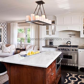 Moorish Tile Wallpaper, Transitional, kitchen, Jeneration Interiors