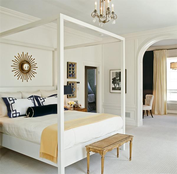 white canopy bed - Yellow Canopy Interior