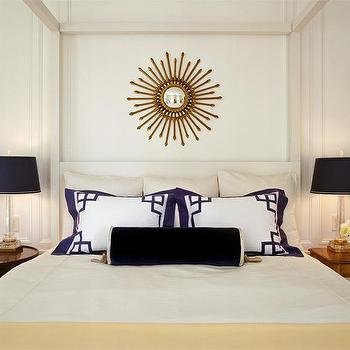 Greek Key Shams, Transitional, bedroom, Tish Key Interior Design