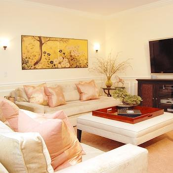 Cream Living Room Walls Design Ideas