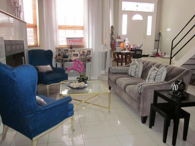 Cool Wonderful Grey And Blue Sofa Ce05 Roccommunity Short Links Chair Design For Home Short Linksinfo