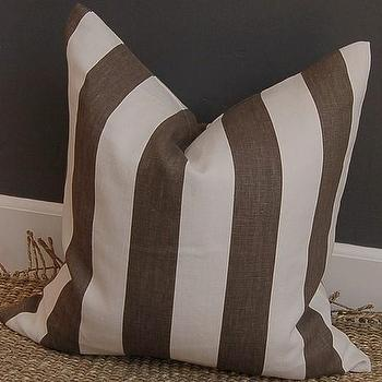 Windsor Smith Cap Deluca linen pillow 20 sq clove/ by woodyliana