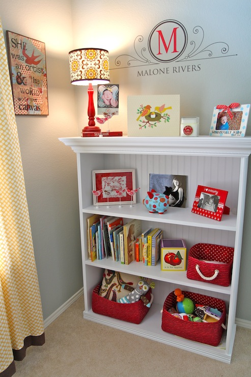 Bookcase With Beadboard Trim Traditional Nursery