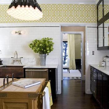 Black and Yellow Kitchen, Eclectic, kitchen, Tish Key Interior Design
