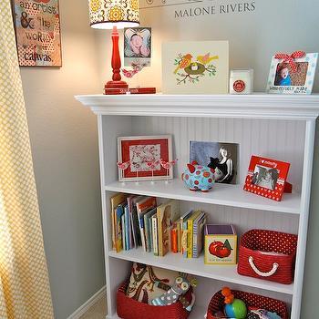 Bookcase with Beadboard Trim, Traditional, nursery, Restoration Hardware Silver Sage