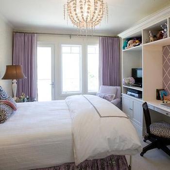 Purple Curtains, Transitional, girl's room, Tish Key Interior Design