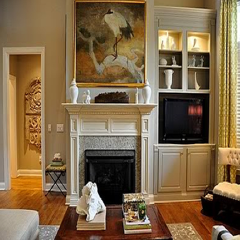 Greige Paint, Transitional, living room, Sherwin Williams Amazing Gray, Isabella and Max Rooms