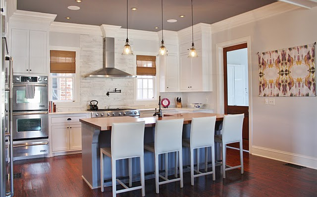 Bell Jar Pendnats Transitional Kitchen Look Linger Love