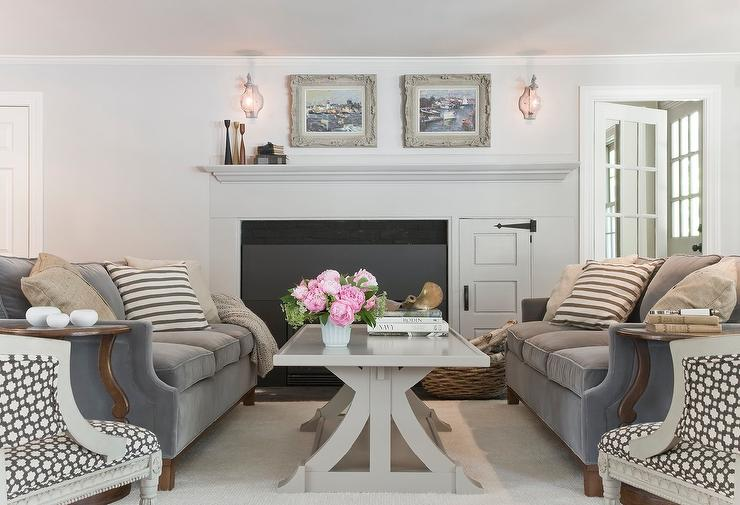 Gray Coffee Table Transitional Living Room Amy Meier
