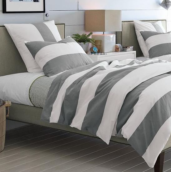 west elm striped bedding look 4 less. Black Bedroom Furniture Sets. Home Design Ideas