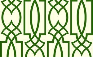 Trellis Wallpaper in Greens and Off-White from the Dolce Vita Collection by Antonina Vella, Seabrook Designs
